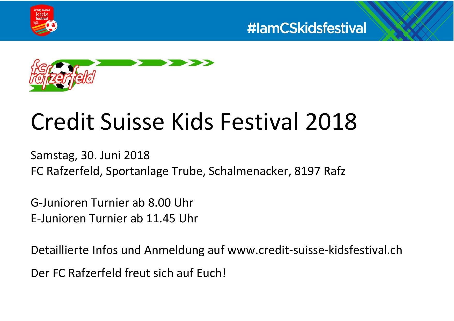 Credit Suisse KidsFestival 2018