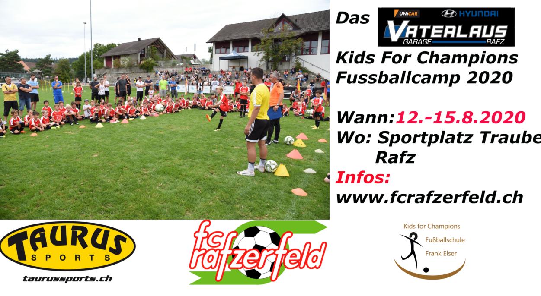 Das Garage Vaterlaus Kids For Champions Fussballcamp 2020