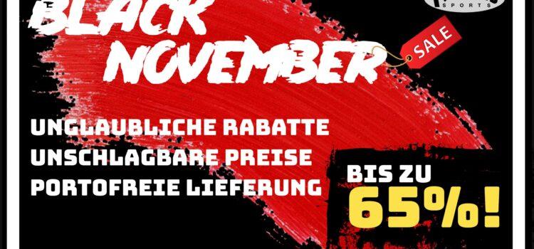 Aus Black Friday wird BLACK NOVEMBER!